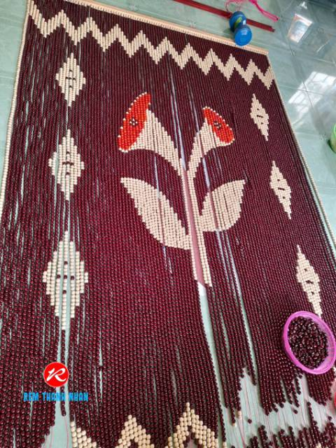 rèm phòng thờ mẫu Hoa Loa Kèn