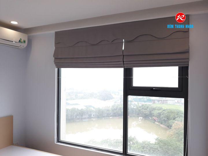 Rèm xếp lớp cửa sổ phòng ngủ