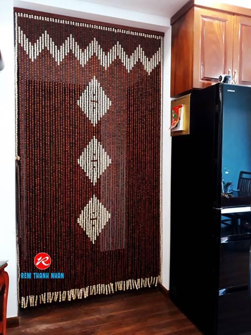 Rèm cửa phòng Bếp hạt gỗ Hương