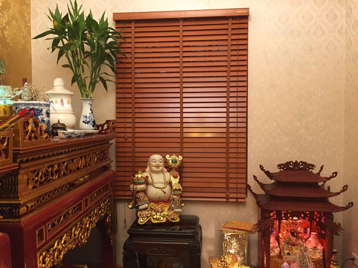 Rèm gỗ cửa sổ phòng Thờ