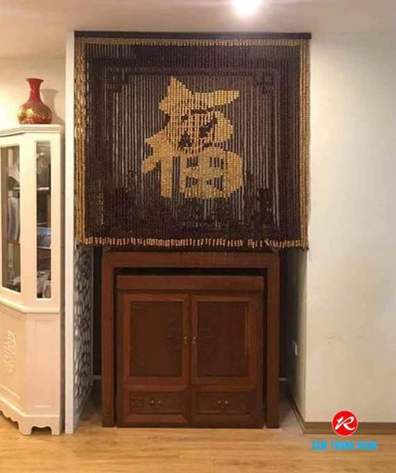Rèm hạt gỗ chữ Phúc Hán