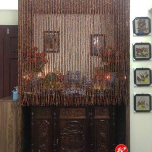 Rèm hạt gỗ Hương trơn