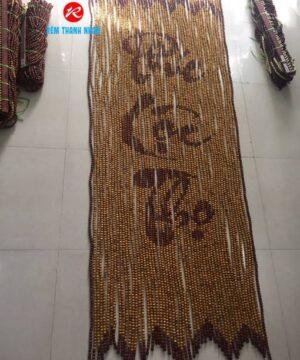 Rèm hạt gỗ Pơ Mu mẫu chữ Phúc Lộc Thọ