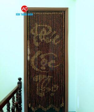Rèm phòng thờ hạt gỗ chữ Phúc - Lộc - Thọ