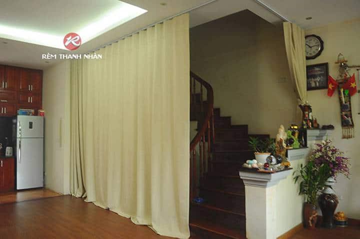 Rèm vải ngăn lạnh điều hòa phòng khách