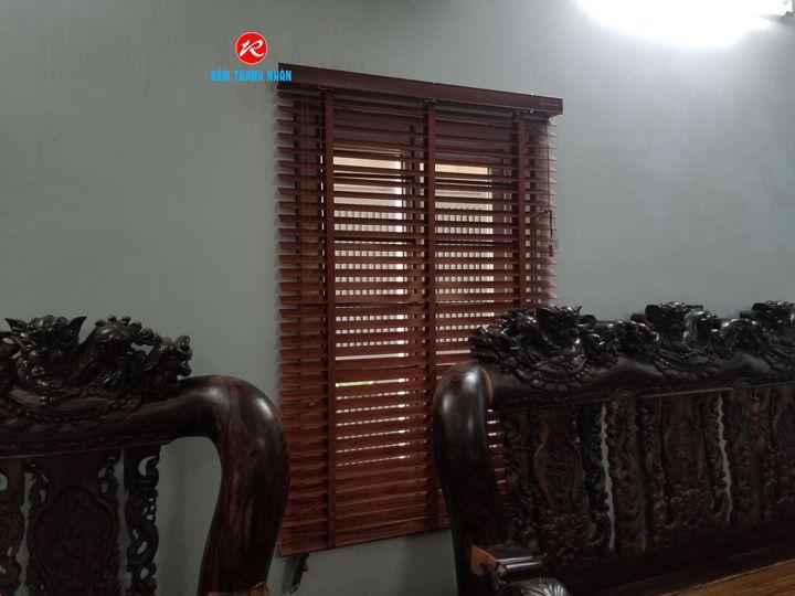 Rèm gỗ Tượng phòng khách
