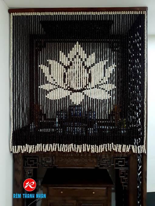 Rèm treo Bàn thờ hạt gỗ Bồ Đề