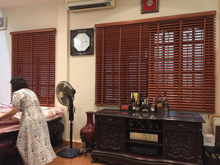 Mẫu rèm sáo gỗ sang trọng và hiện đại