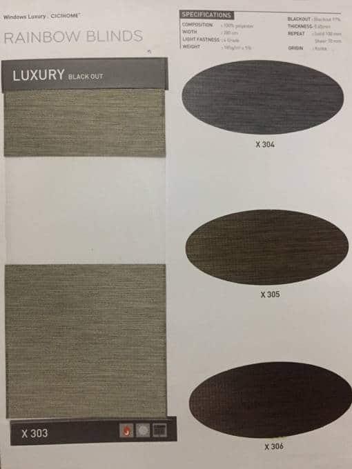 Vải màn cầu vồng cản nắng mã Luxury cho phòng ngủ