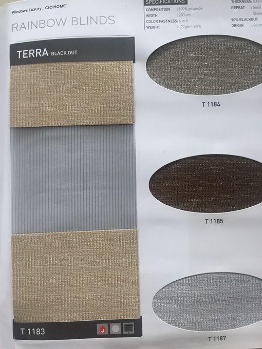 Vải rèm cầu vồng cản nắng cản sáng Terra T1185 CiCi Home