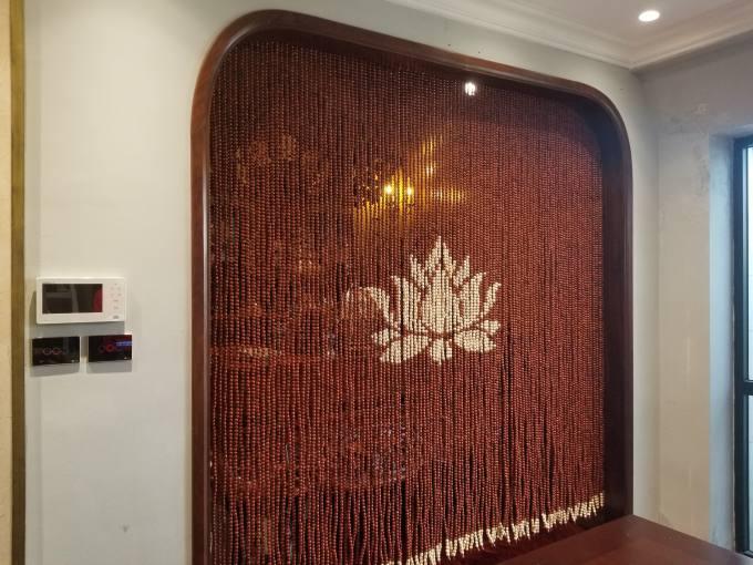 Rèm hạt gỗ phòng thờ và những bí quyết chọn hợp cách